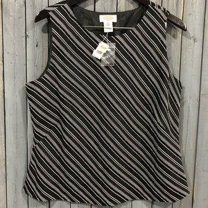 NWT Talbots Striped Beaded Blouse